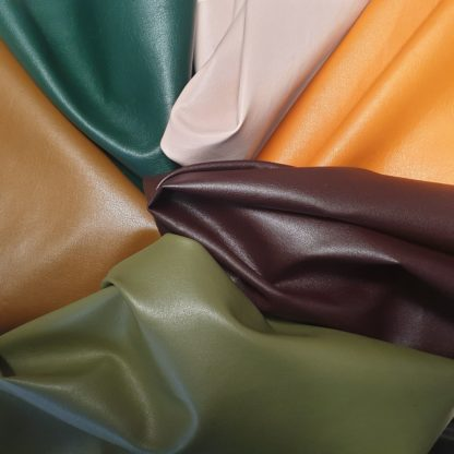 Soft glossy eco leather ready to make continuative in stock service colors